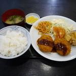 信濃庵 - コロッケ定食