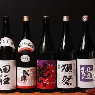 全国から集められた日本酒