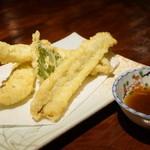 えくぼ  - 穴子の天ぷら