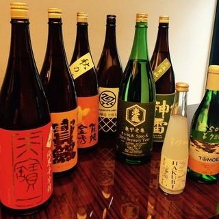日本酒が各種グラスで400円から!!