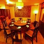 香港楼 - ゆったり足を伸ばしてくつろげる、円卓の個室はご宴会に最適。