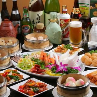 70種類飲茶と中華を食放+80種類飲放で4000円(税抜)