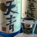 炭火焼鳥 権兵衛 - 四季折々の日本酒を涼感たっぷりにご提供しています