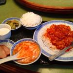 42450176 - 小エビのチリソース炒め定食