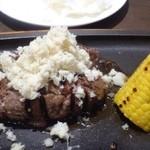 竃 円山 - 料理写真:「山わさび」タップリですよ。辛味がお肉によく合うとか。