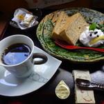 器とお茶 のどか - 料理写真:シフォンケーキ コーヒー