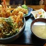 鳳翠 - 天丼1000円