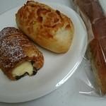 Paokoubou - コロネみたいなの、ガーリックチーズフランス、きのこの杖