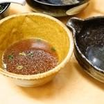 三谷製麺所 - つけめん(スープ割り)