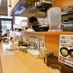 三谷製麺所 - カウンター席