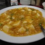 中華料理 大陸 - 麻婆豆腐と炒飯のセットの辛くない麻婆豆腐