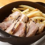 味噌麹漬け豚の那智石焼き