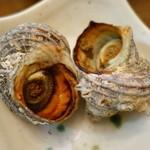 鈴木水産 - 2015.10 魚焼きグリルで焼かれたサザエ♪