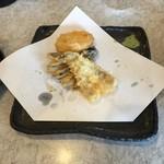 天ぷら倶楽部 - じゃがいも、はぜ、茄子です。