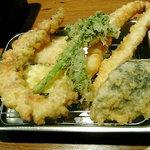 425488 - 山の春定食の天ぷら
