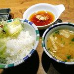 425490 - 定食のご飯、味噌汁、香の物