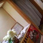 寿司けん - 店内入って、左がお座敷、右がカウンター