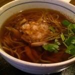 野の花 - 山菜そば(850円)