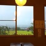 野の花 - 窓の外の情景:長野はこのようなお店が多いですね!