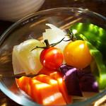 風と手と土 - 蒸し野菜サラダ