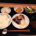 輝咲 - さばの塩焼きランチ@1000円