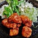 42557582 - 『とん麩羅』(800円)!!豚バラブロック肉の唐揚げ~♪(^o^)丿