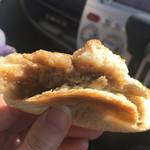 42559531 - お焼きパンの中には味噌ナスが。味付けが絶妙!