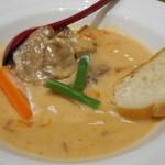 牛たん炭焼 利久  - 牛たんチーズクリーム煮定食
