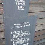 駒沢vegebon - 看板②素材のこだわり