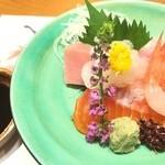 42563392 - 富山湾の鮮魚のお造り 白エビ最高♡
