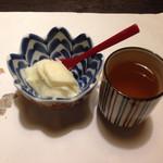 酒ありき肴与一  - シャーベットとほうじ茶