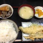 おけいちゃん - あなご天 定食680円(*´д`*)