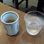 手打ちそば 毘沙門 - 水とそば茶
