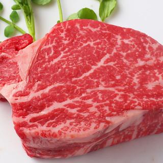 """ディナーには北海道十勝産""""しほろ牛""""の3種類のステーキ!"""