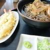 開拓そば - 料理写真:冷しエビ天開拓そば1050円 2015.10
