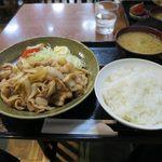 Kashiwaya - 生姜焼き定食_2015/09