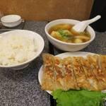 餃子屋 じなんぼ - ばりばり棒餃子定食+海老ワンタン_2015/10