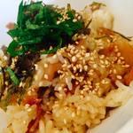 コネクテッド コネクト - 豚バラ丼(サラダ、スープ付)¥850 甘しょっぱさがクセになる