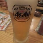 うどん市 - 乾杯メニューのビール(2015.9.26)