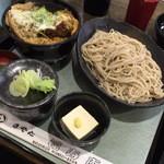 福寿庵 - かつ丼セット(840円)2015年9月