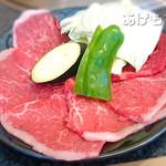 齊藤牧場 - モモ肉100g [焼肉定食]