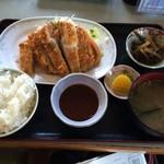 うま亭 - トンカツ定食(五島豚)900円(税込)