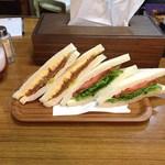 42597805 - H27.10 ハムカツタマゴ&生野菜