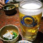 おさかな処 磯の家 - お約束のビール