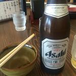 42601557 - ビールは中瓶お通しはふき味噌である。絶品、美し。
