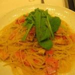 42603578 - お揚げと壬生菜の京風ペペロンチーノ Lサイズ