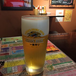 タコリブレ - 生ビール\650 にしちゃあグラス小さいと正直な感想