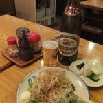 五反田 カミヤ - ビールとお通し(2015年9月)