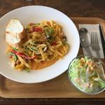 カフェ モーガン - 選べるパスタセット 明太子クリーム パスタ麺はフェットチーネ モチモチ麺