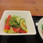 めん処 広川 - 和朝食にはサラダもセットになってたんで先ずは此れから朝食のスタートです。